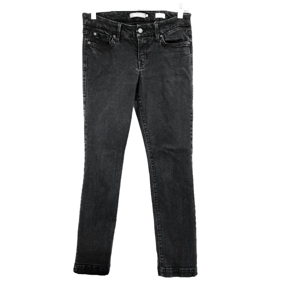Level 99 Lily Crop Skinny Straight Jeans Black 28